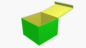 Apra la casella verde Fotografie Stock Libere da Diritti