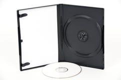Apra la cassa bianca di DVD con DVD bianco fotografie stock libere da diritti