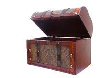 Apra la cassa di legno dell'annata isolata su bianco Fotografia Stock Libera da Diritti