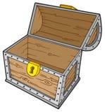 Apra la cassa di tesoro vuota Immagine Stock