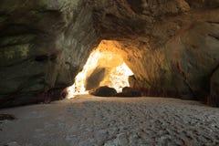 Apra la caverna a mille spiagge di punti Fotografia Stock