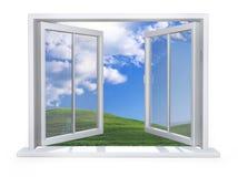Apra la finestra bianca Immagine Stock Libera da Diritti