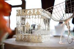 Apra la gabbia di uccello Fotografia Stock Libera da Diritti