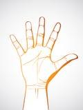 Apra la mano Immagini Stock