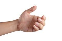 Apra la mano che mostra tutte e cinque le barrette immagini stock libere da diritti