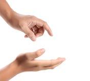 Apra la mano della palma fotografie stock libere da diritti