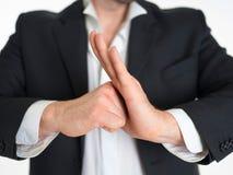 Apra la mano ed il pugno Immagini Stock Libere da Diritti