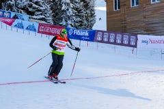 Apra la nuova stagione 2015-2016 dello sci in Bansko, Bulgaria Immagine Stock