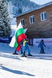 Apra la nuova stagione 2015-2016 dello sci in Bansko, Bulgaria Immagini Stock