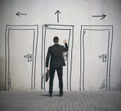 Apra la porta Immagini Stock