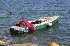 Apra la prospettiva sparata del peschereccio al mare aperto fotografia stock libera da diritti