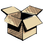 Apra la scatola del deposito Immagine Stock