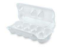 Apra la scatola delle uova della schiuma Immagini Stock Libere da Diritti