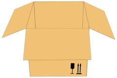 Apra la scatola di carboard Fotografie Stock