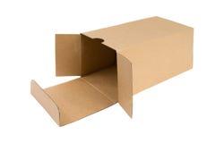 Apra la scatola di cartone. Fotografie Stock Libere da Diritti