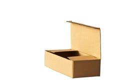 Apra la scatola di cartone Immagine Stock Libera da Diritti