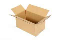 Apra la scatola di cartone Immagine Stock