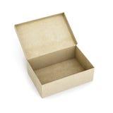 Apra la scatola di cartone isolata su priorità bassa bianca 3d rendono i cilindri di image Immagini Stock