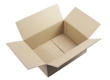Apra la scatola di cartone ondulata Fotografia Stock