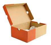 Apra la scatola di cartone vuota del pattino Immagine Stock Libera da Diritti