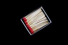 Apra la scatola di fiammiferi isolata Fotografia Stock
