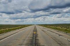 Apra la strada Wyoming Fotografie Stock