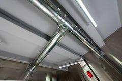 Apra la ventilazione ed il sistema di condizionamento d'aria fotografia stock