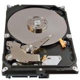 Apra la vista superiore del drive del hard disk dell'alloggio isolata Immagini Stock