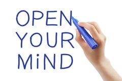 Apra la vostra mente fotografia stock