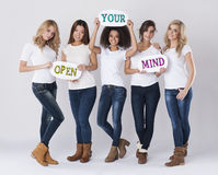 Apra la vostra mente immagine stock libera da diritti