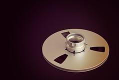 Apra le bobine del metallo con nastro adesivo per la registrazione del suono professionale Fotografie Stock