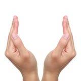 Apra le mani Immagini Stock Libere da Diritti