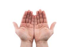 Apra le mani Tenendo, dare, mostrante concetto fotografia stock libera da diritti