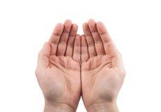Apra le mani Tenendo, dare, mostrante concetto immagine stock libera da diritti