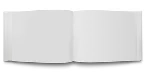 Apra le pagine in bianco del libro Immagine Stock Libera da Diritti