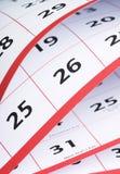 Apra le pagine di un calendario Fotografie Stock Libere da Diritti