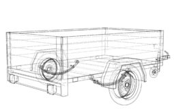 Apra lo schizzo del rimorchio Vettore illustrazione vettoriale