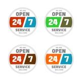 Apra 24 ore al giorno e una settimana dei 7 giorni Immagine Stock
