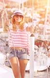 Apreciando férias de verão luxuosas Imagem de Stock Royalty Free