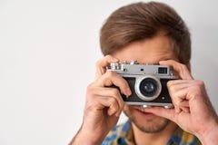 Apreciando imagens de tomada de tudo ao redor fotografia de stock