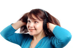 Apreciando a música #12 foto de stock royalty free