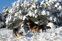Apreciando a neve Foto de Stock