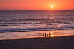 Apreciando o por do sol em Califórnia Imagem de Stock