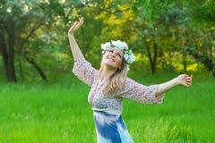 Apreciando o sol Fotografia de Stock Royalty Free