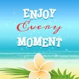 Aprecie cada momento Fotografia de Stock Royalty Free