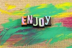 Aprecie citações da tipografia do tempo da vida do dia da apreciação hoje agora imagens de stock royalty free