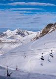Aprecie esquiar Imagem de Stock