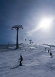 Aprecie esquiar Imagem de Stock Royalty Free