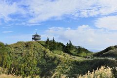 Aprecie a ideia da natureza em torno da lagoa de Menghuan na montanha de Yangmingshan Fotos de Stock
