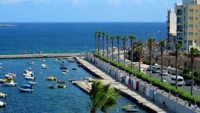 Aprecie a ideia superior do recurso de Bugibba, Malta filme